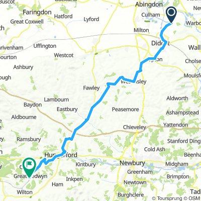 Long Wittenham to Bedwyn