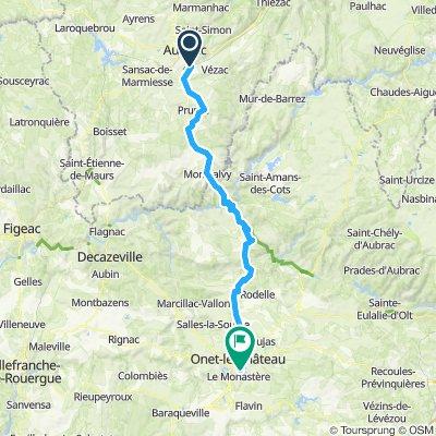 Etape 08 - Arpajon sur Cère à Rodez - 84,2km 1260D+