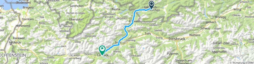 3. Etappe Garmisch nach Landeck