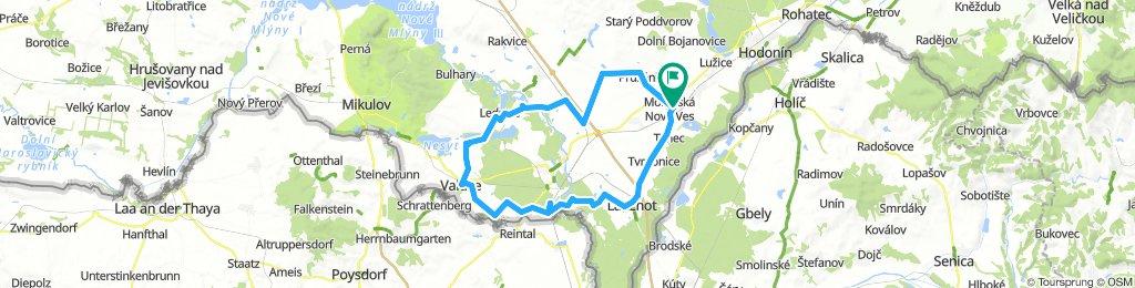 Moravska Nova ves-Lednice-Vatice- Pohansko -Moravska nova ves