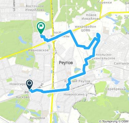 2 зимние велодоставки в Реутов (южная часть - Носовихинское шоссе) и Балашиху мкрн Дзержинского