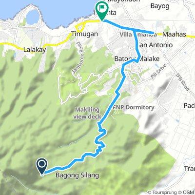 J02B - vendredi 11 janvier 2019 - Route mont Makiling - Los Baños
