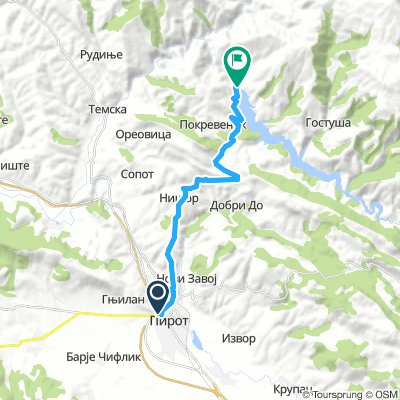 Cycling Routes And Bike Maps In And Around Pirot Bikemap Your