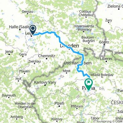 Leipzig-Paunsdorf - Prag