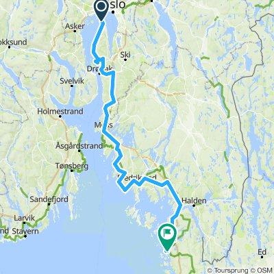 Nesoddtangen - Hallangen - Slevik - Strømstad