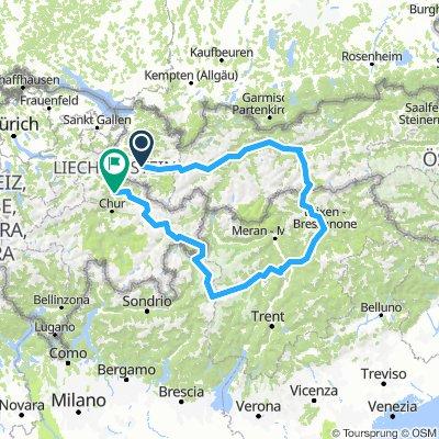 Südtirol-Bludenz-Landquart 563km 9710hm