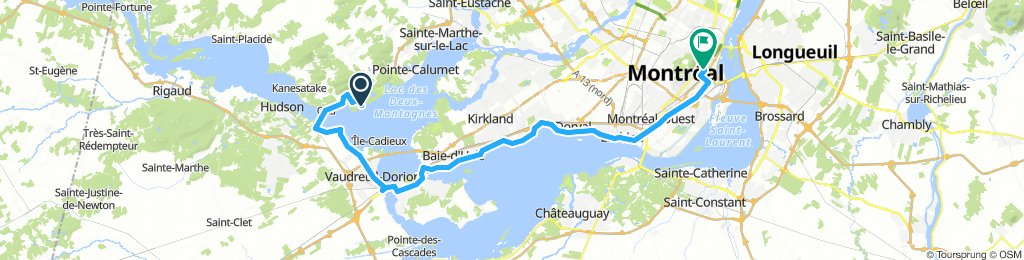 8of12 QC - 02b Oka, QC to Montréal, QC (HI Montreal Hostel) 65km