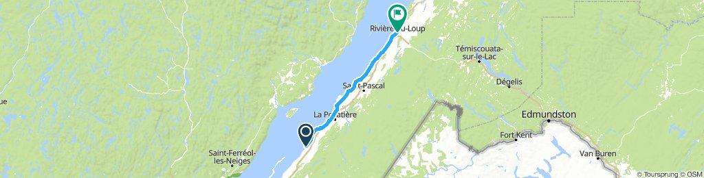 8of12 QC - 08 Saint-Jean-Port-Joli, QC to Rivière-du-Loup, QC (Auberge internationale de Rivière-du-Loup) 94km