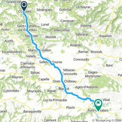 Cevennen: Conques - Pont-de-Salars