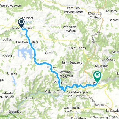Cevennen: Pont-de-Salars  - Millau