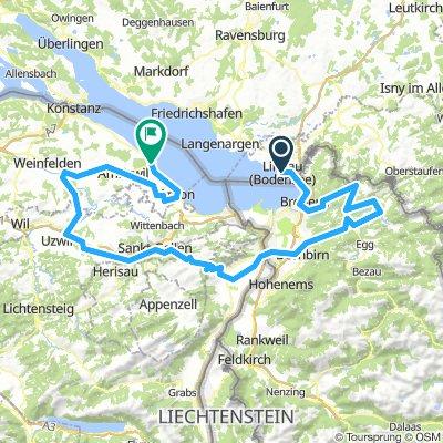 Lindau Germany Map.Lindau Bregenz Feldkirch Bludenz Silvretta Ischgl Kappl