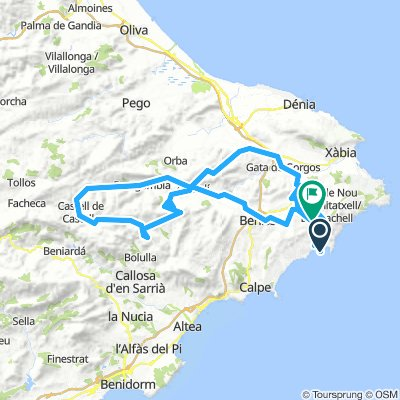 Moraira Col De Ratas Loop