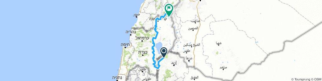 z jordanii na pln izraela