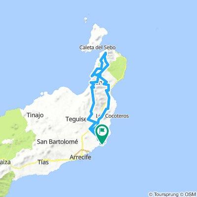 MTB-Tour Costa Teguise-Mirador del Rio- El Risco de Famara