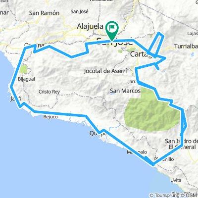 Epic climbs Costa Rica, road bike!