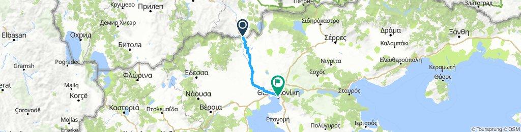 Eurovelo 11 - N. Macedonia - Thessaloniki