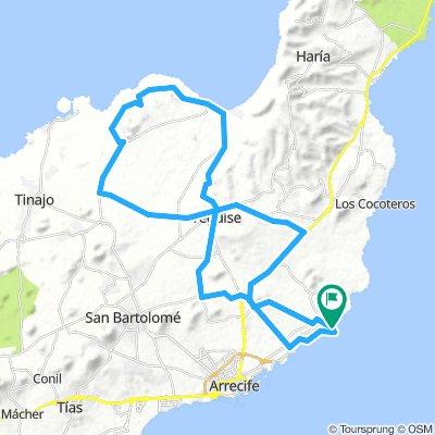 MTB-Tour Costa Teguise-Teguise-Playa de Famara