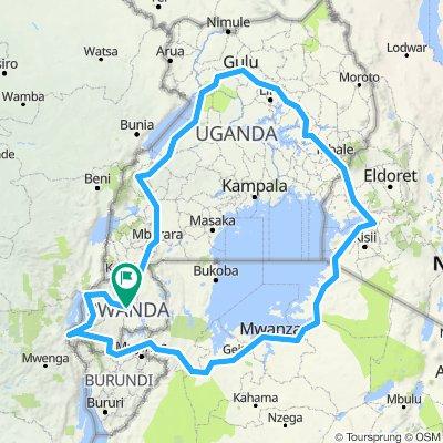 Kigali- Congo Nile Trail - Burundi - Tanzania - Uganda