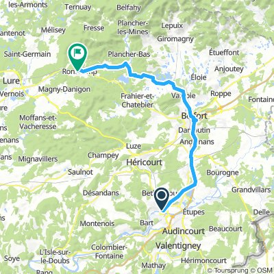 18 Montbeliard to Ronchamps