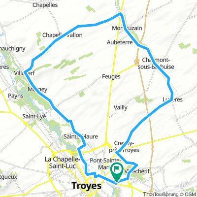Circuit des vallées de la Seine n°3 AS BARBEREY