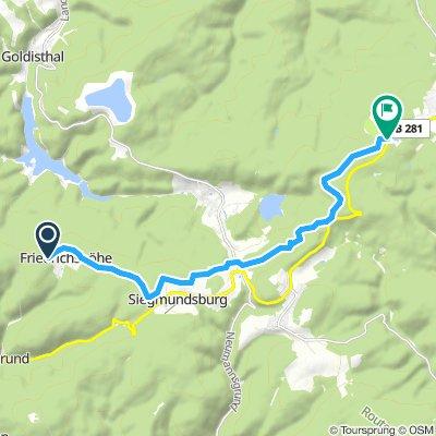 1.6.  Skitour von Friedrichshöhe nach Neuhaus/Rennweg
