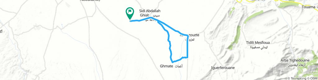 Relaxed route in Al Haouz