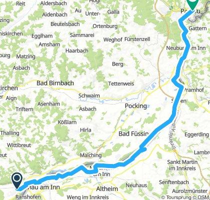 3 Kirchdorf/Simbach - Passau  70km 110/160m