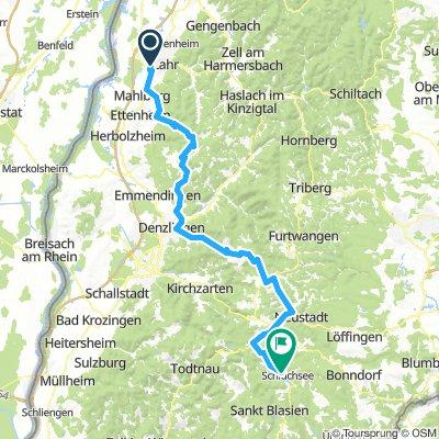 Edit 2019 von Lahr nach Schluchsee mit dem Fahrrad