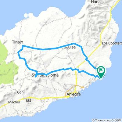 MTB-Tour Costa Teguise - La Florida - Tiagua - Teguise