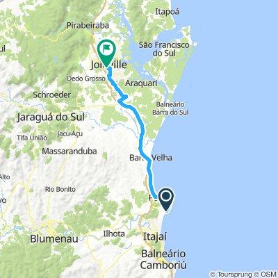 Navegantes (Camping do Gravatá) - Joinville (rodoviária)