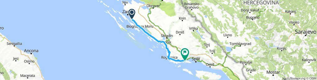 Pobrežie Chorvátsko Sukošan - Trogir