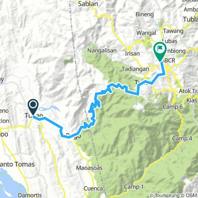 Tubao to Baguio Via Marcos Hiway