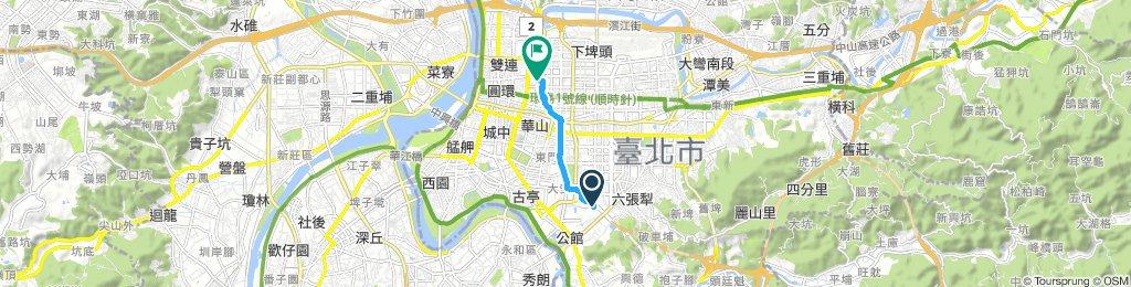 Ruta lenta en Jhongshan District
