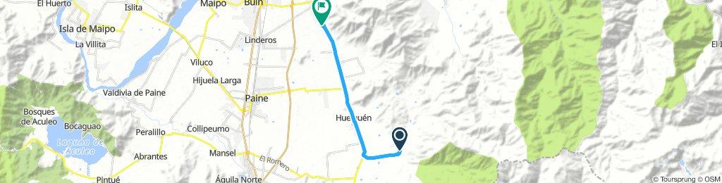 ruta cruz del sur a escorial