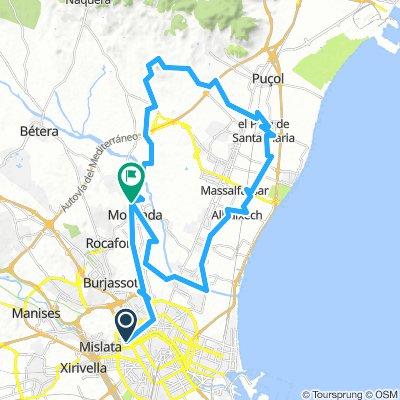 Moncada - Trincheras de Cabes Bort - Muntanya de la Pata 30-01-2019