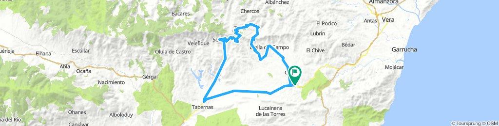 Sorbas-Tabernas-Senés-Tahal-Alcudia de monteagud-Benitagla-Benizalón-Uleila-Sorbas