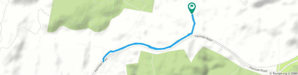 Run - The Brick to Penrose Cafe via Track Crossing & Return