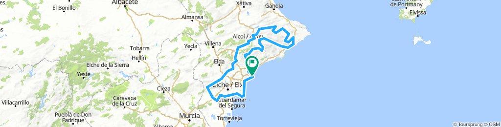 Brevet Randonneur 400K Alicante 2019