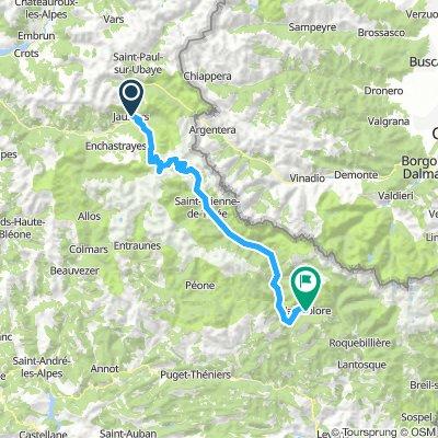 Zaterdag Jauviers-Valdeblore 93 km