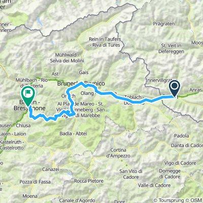 KZ19 - D3 - Panzerdorf to Brixen (over Wurzjoch 1987 moh) - not chosen