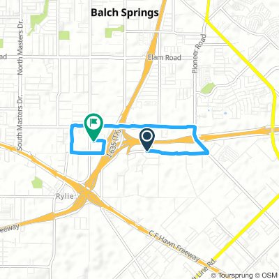 Snail-like route in Balch Springs