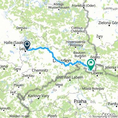 Leipzig-Paunsdorf - Zittau Dreiländereck