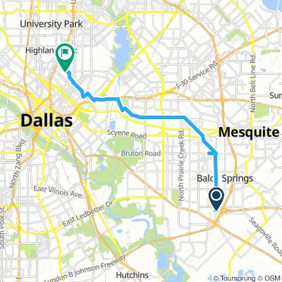 Relaxed route in Dallas