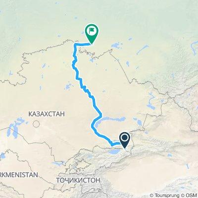 Karkara (kazak)-almaty-Astana-lac bourabaï-frontière roslavka-Omsk (russie)