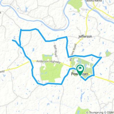 Powhatan Bike Tour 30 mi. w/detour for monument