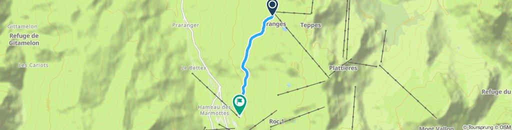 Itinéraire modéré en Saint-Martin-de-Belleville