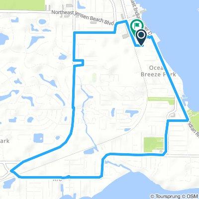 Moderate route in Ocean Breeze Park