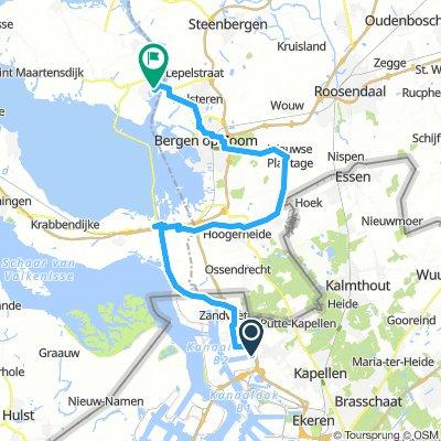 Antwerp to Tholen