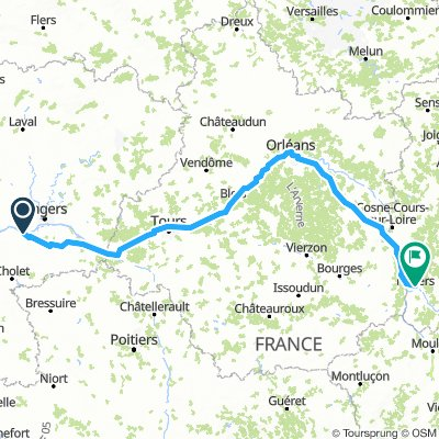 Chalonnes sur Loire to Nevers - River Loire cycle route part 1