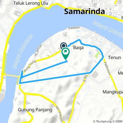 Cycling routes and bike maps in and around Samarinda   Bikemap ...